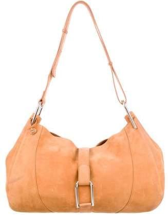 Delvaux Suede Hobo Bag