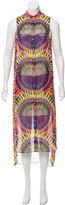 Mara Hoffman Abstract Print Button-Up Dress