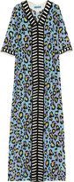 Matthew Williamson Leopard-print silk crepe de chine kaftan