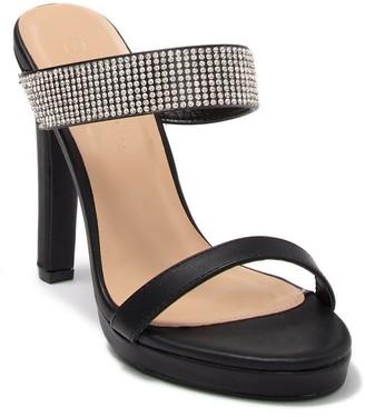 Wild Diva Lounge Ayala Open Toe Embellished Strap Sandal