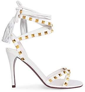 Valentino Women's Garavani Rockstud Flair Ankle-Wrap Stiletto Sandals