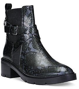 Donald J Pliner Women's Savvy Snake Embossed Leather Booties
