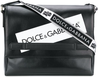 Dolce & Gabbana Logo Panel Messenger Bag