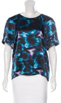 Erdem Silk Printed Top