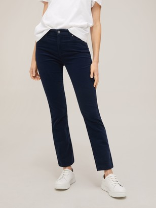 AG Jeans Mari High Rise Straight Leg Jeans, Blue Midnight