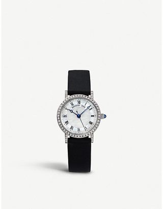 Breguet 8068BB/52/964/DD00 Classique 18ct white-gold, mother-of-pearl, diamond and alligator-leather watch