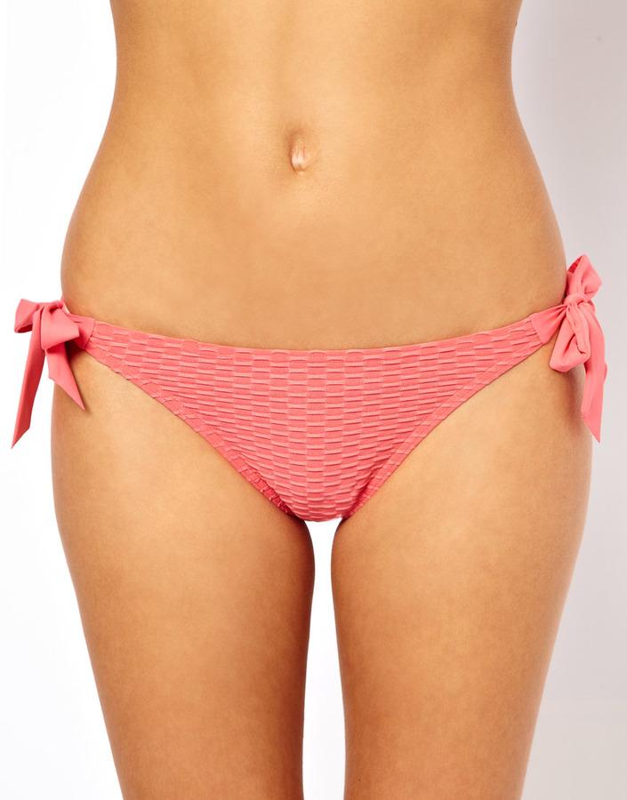 Esprit Waffle Tie Side Bikini Bottom