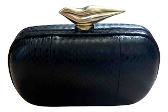Diane von Furstenberg Black Exotic leathers Clutch bags