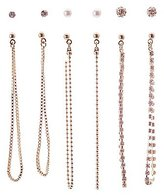 Charlotte Russe Chainlink Drop & Stud Earrings - 6 Pack