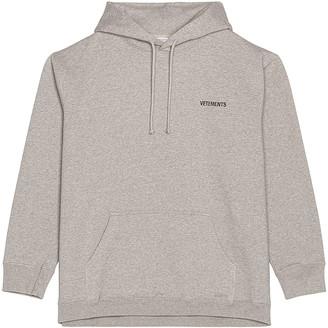 Vetements Logo Hoodie in Grey   FWRD