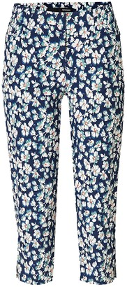 Stehmann Loli 602 Slim 6/8 Basic Shape with Slit Floral Print - Blue - 8