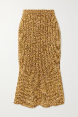 Christopher Kane Ribbed Wool Skirt - Brown