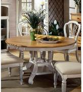 Hillsdale Furniture Wilshire Round/Oval Dining Table in Antique White