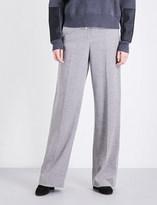 Stella McCartney High-rise wide wool trousers