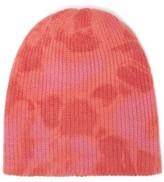 The Elder Statesman Hot Dye Cashmere Beanie Hat - Womens - Pink Multi