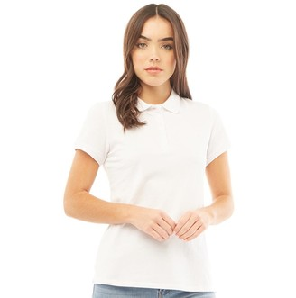 Crew Clothing Womens Exmouth Solid Jersey Polo White