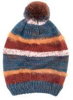 Muk Luks Women's Oversized Stripe Pom Beanie
