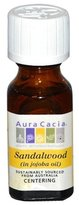 Aura Cacia Precious Essentials Sandalwood Blended with Jojoba Oil, 0.5 Fluid Ounce