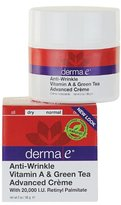 Derma E Anti-Wrinkle Vitamin A & Green Tea Advanced Crème , 2 Ounce (56 g)