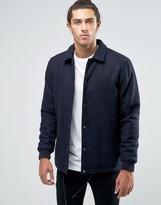 Asos Wool Mix Coach Jacket in Navy