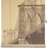"Oriental Furniture Brooklyn Bridge Bamboo Blinds - 72"" x 72"""