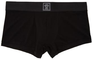Versace Underwear Black Silk Boxer Briefs
