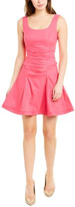 Nicole Miller Linen-Blend A-Line Dress