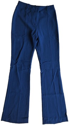 RALPH & RUSSO Navy Cotton Trousers for Women