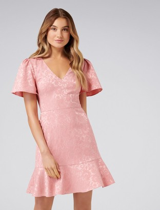 Forever New Skye Jacquard Fit and Flare Dress - Maidens Blush - 12