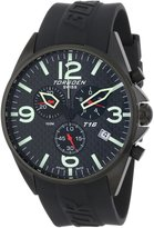 Torgoen Swiss Men's T16302 Aviation Chronograph Carbon Fiber Polyurethane Strap Watch