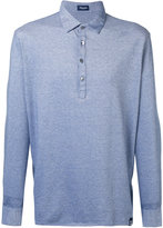 Drumohr long sleeve polo shirt - men - Cotton - M