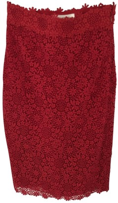 Valentino Red Cotton Skirt for Women