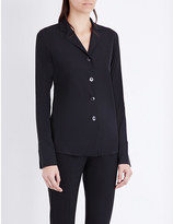 Jil Sander Slim-fit stretch-silk shirt