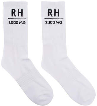 Rhude SSENSE Exclusive White Soho House Edition RH Socks