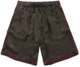 Dries Van Noten Printed Satin Drawstring Shorts