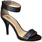 Mossimo Women's Vidal Heeled Ankle Strap Sandals with Studs - Black