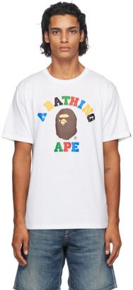 BAPE White College T-Shirt