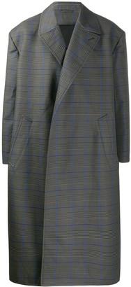 Balenciaga Oversized Checked Flap Coat