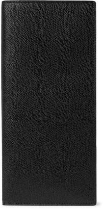 Valextra Pebble-Grain Leather Travel Wallet