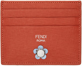 Fendi Red Flowerland Card Holder