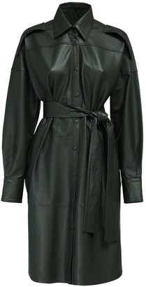 Remain Labare Leather Shirt Dress W/ Belt