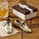 Tommy's Home Pair Of Silver Oxford Wingtip Shoe Paperweights