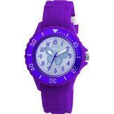 Tikkers Girls Purple Rubber/silicone Strap Watch with Glitter bow TK0035 by Tikkers