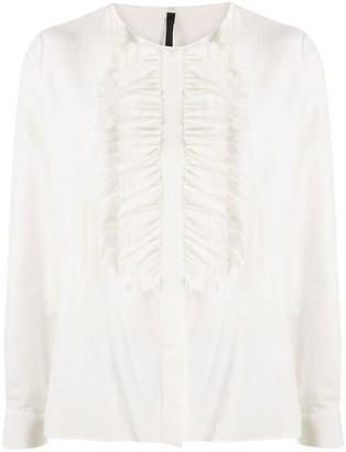 Sara Lanzi Ruffle Long-Sleeve Blouse