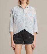 Allsaints Milson Tropix Silk Shirt