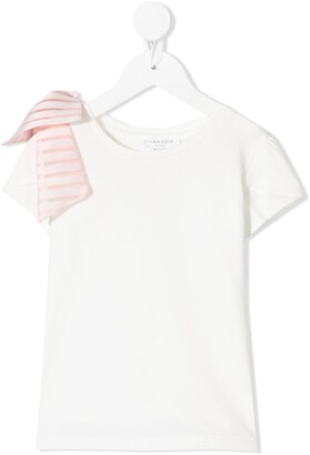 Charabia bow-detail T-shirt