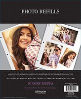 Scrapbook Pinnacle Magnetic Photo Album Refills, 10 - 2 sided pages pack