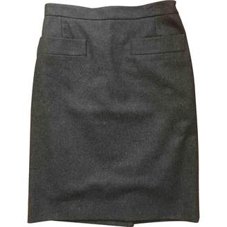 Saint Laurent Anthracite Wool Skirt for Women Vintage
