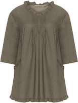 Isolde Roth Plus Size Cotton and linen mix tunic