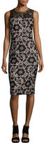 Jessica Simpson Embellished Lace Sheath Dress